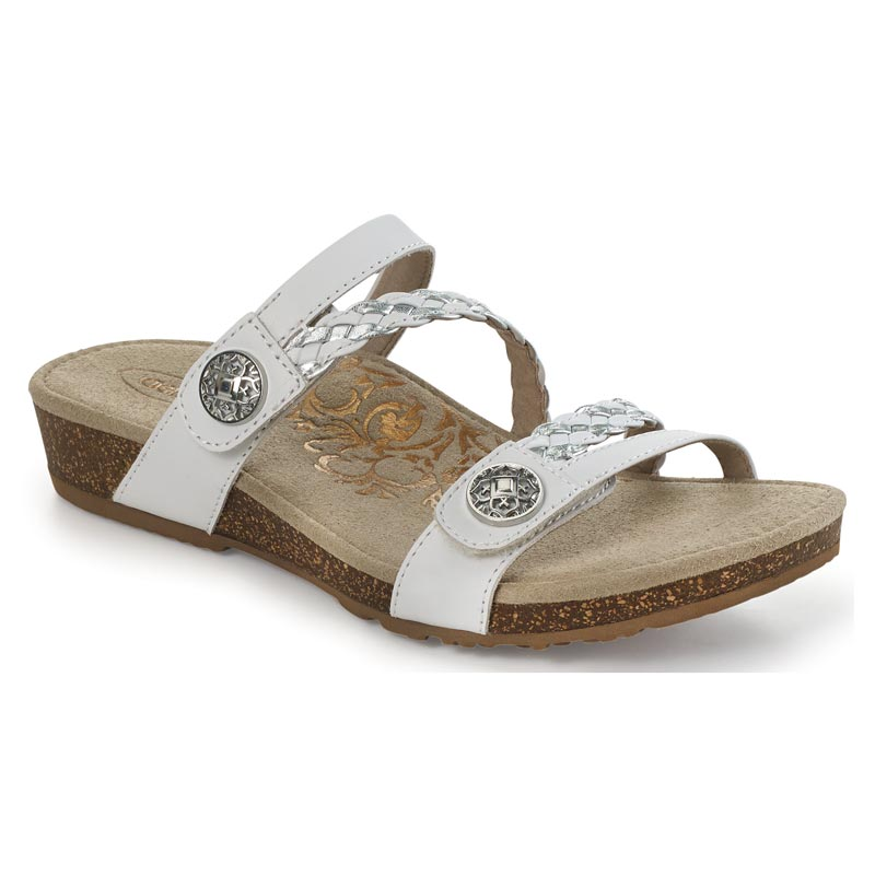 Aetrex Janey White Sandals