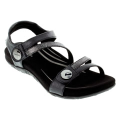 Aetrex Jess Black Sandals