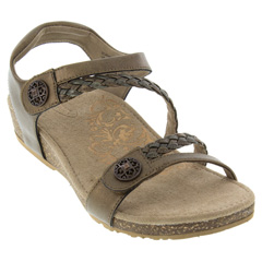 Aetrex Jillian Leather Bronze Sandals
