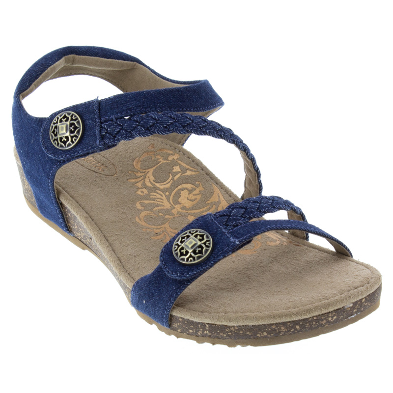 Aetrex Jillian Denim Sandals