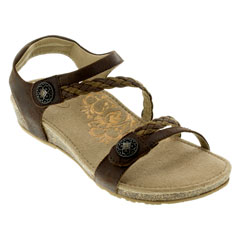 Aetrex Jillian Dark Brown Sandals