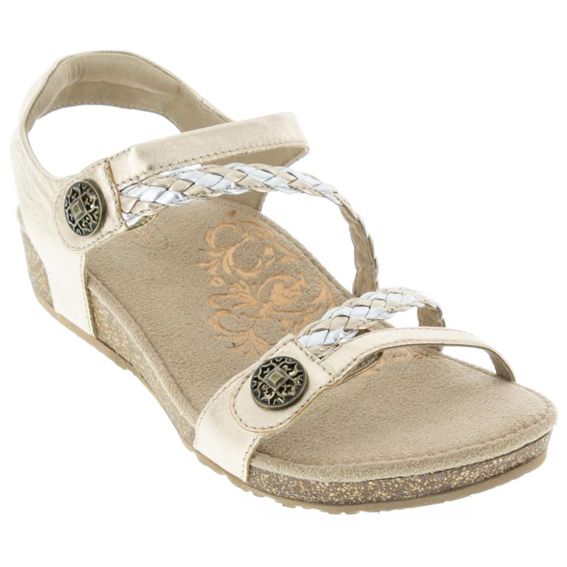 Aetrex Jillian Gold Sandals