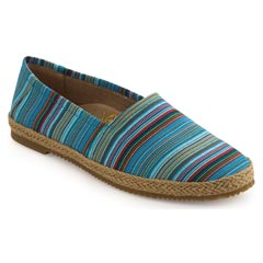 Aetrex Kylie Blue Stripe Shoes