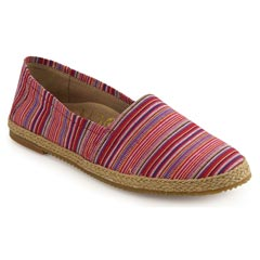 Aetrex Kylie Pink Stripe Shoes