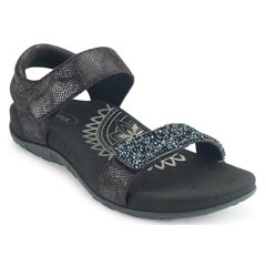 Aetrex Maria Jeweled Black Sandals