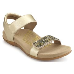 Aetrex Maria Jeweled Gold Sandals