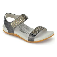Aetrex Maria Pewter Sandals