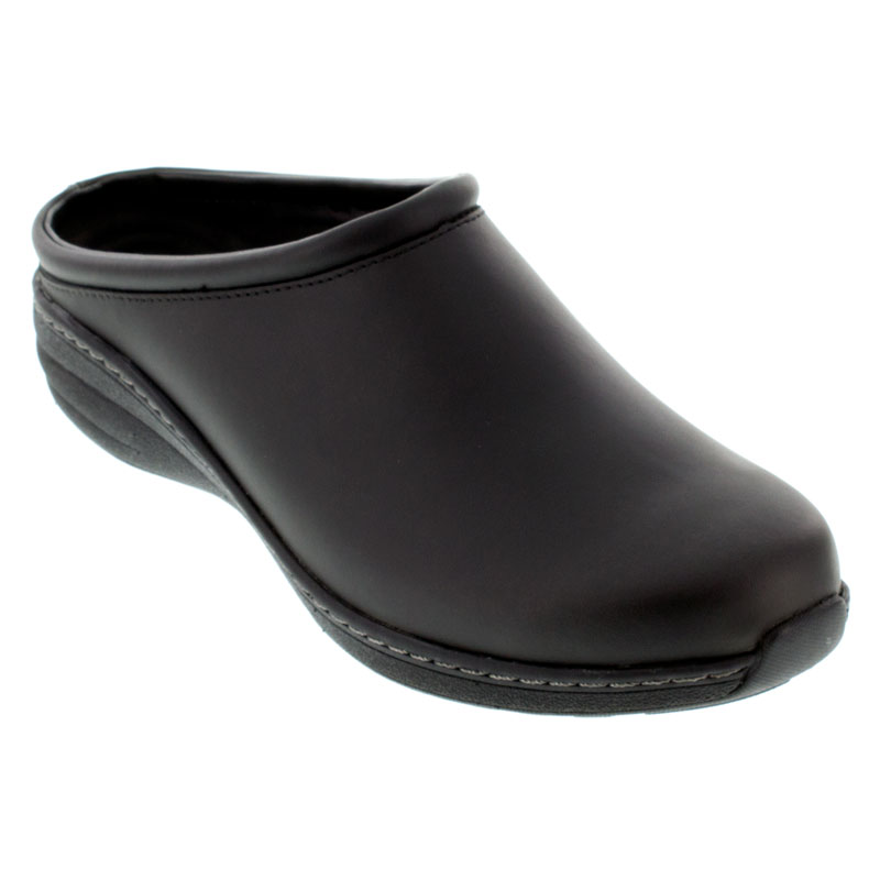 Aetrex Robin Black Oiled Leather Slip-Resistant 36