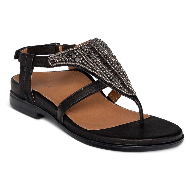 Aetrex Sheila Black Leather 42