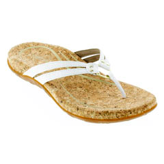 Aetrex Taylor White Sandals