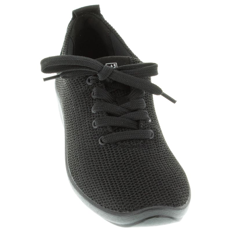 Arcopedico Net 3 Black Synthetic shoes front view