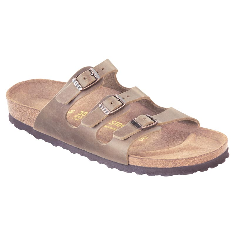 1569156f0cc8 Womens Birkenstock Florida Tobacco Leather Soft Footbed - Happyfeet.Com
