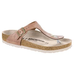 Birkenstock Gizeh Washed Metallic Rose Sandals
