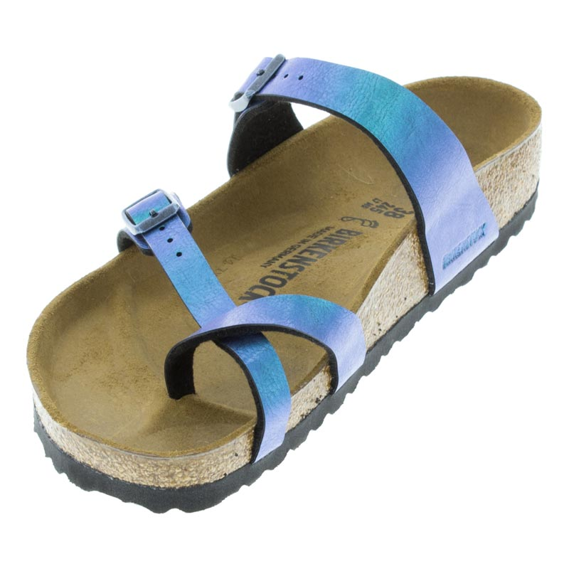 Birkenstock Mayari Graceful Gem Blue Birko-Flor left front view