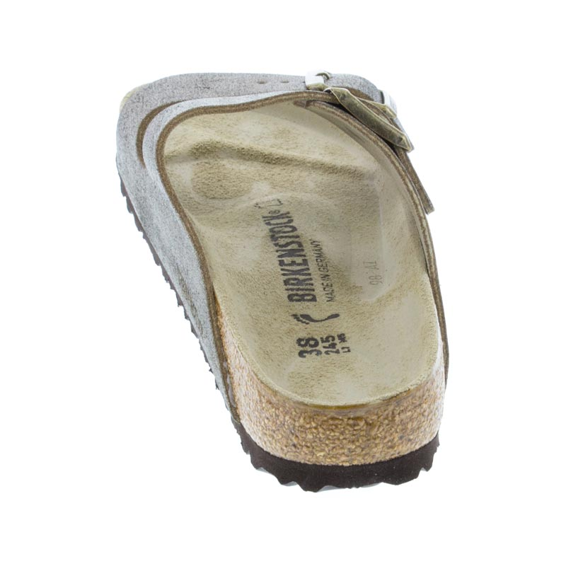 Birkenstock Arizona Washed Metallic Gold Leather back view