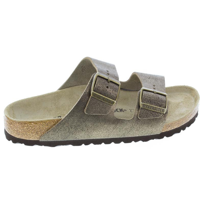 Birkenstock Arizona Washed Metallic Gold Leather right side view