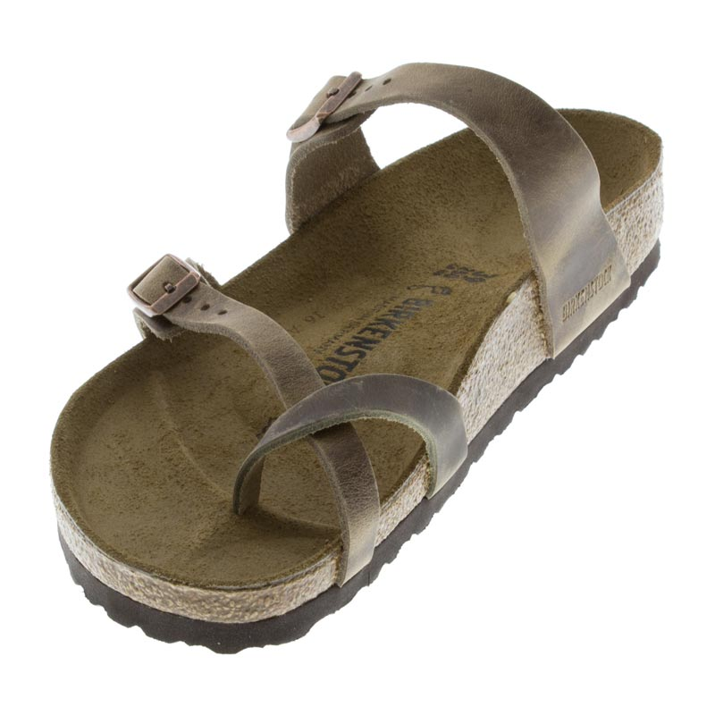 Birkenstock Mayari Tobacco Oiled Leather left front view