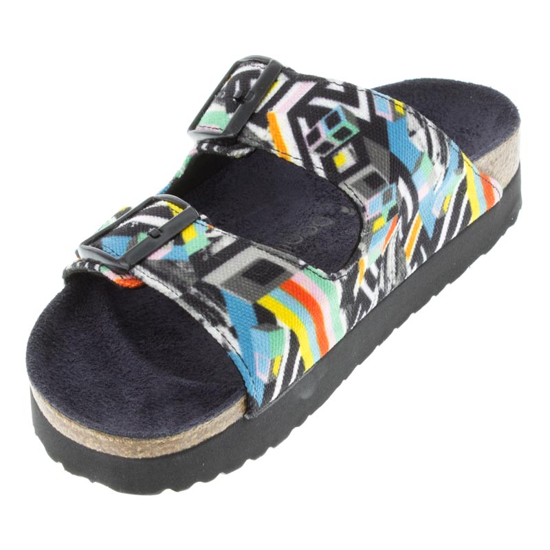 Birkenstock Arizona Pattern Clash Polychromatic Textile left front view