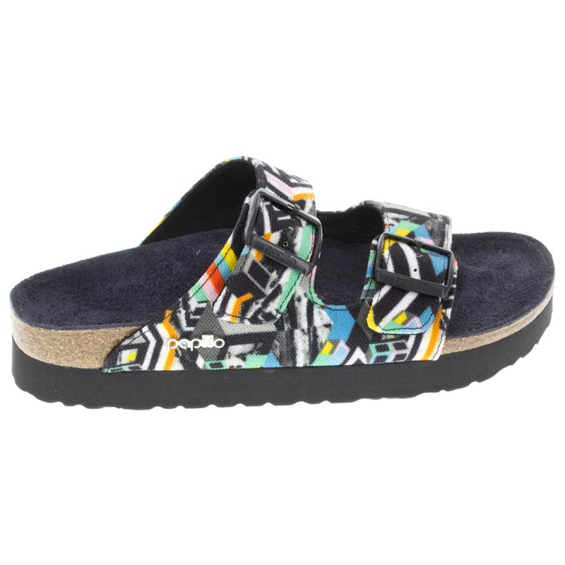 Birkenstock Arizona Pattern Clash Polychromatic Textile right side view