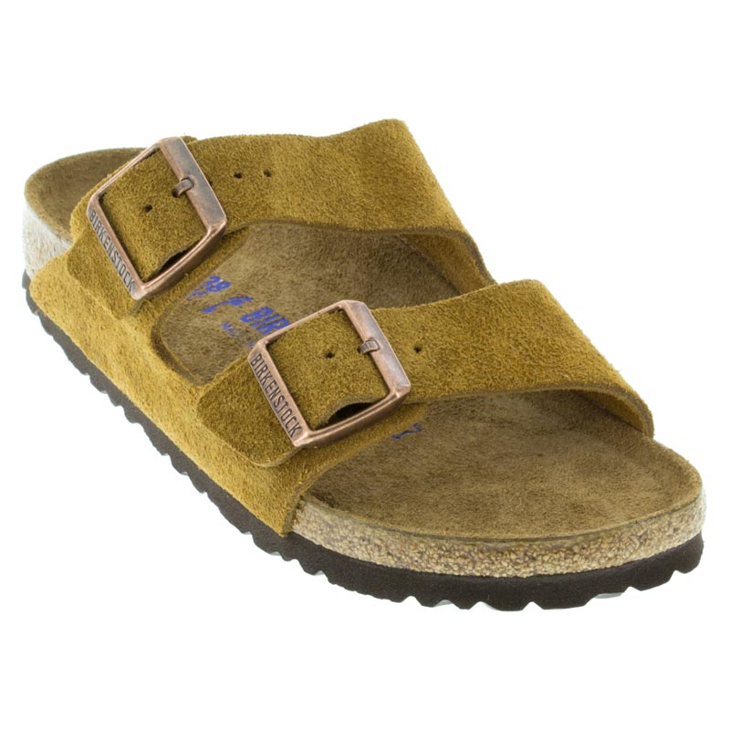 ef98168a3 Birkenstock Arizona Mink Sandals. Birkenstock Arizona Mink Suede Soft  Footbed ...