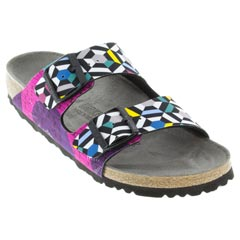 1a5db846335 Birkenstock Arizona Sonar Geometric Pink Sandals