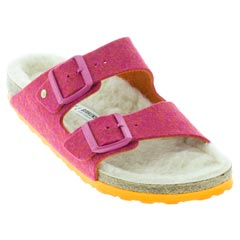 Birkenstock Arizona Happy Lamb Fuchsia Sandals