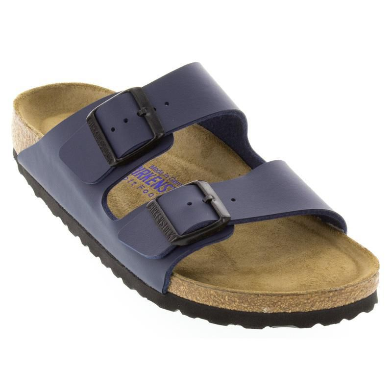 919eb5c8a419 Womens And Mens Birkenstock Arizona Navy Birko-Blor Soft Footbed ...