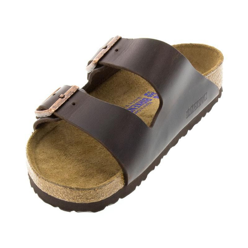 Birkenstock Arizona Brown Leather Soft Footbed