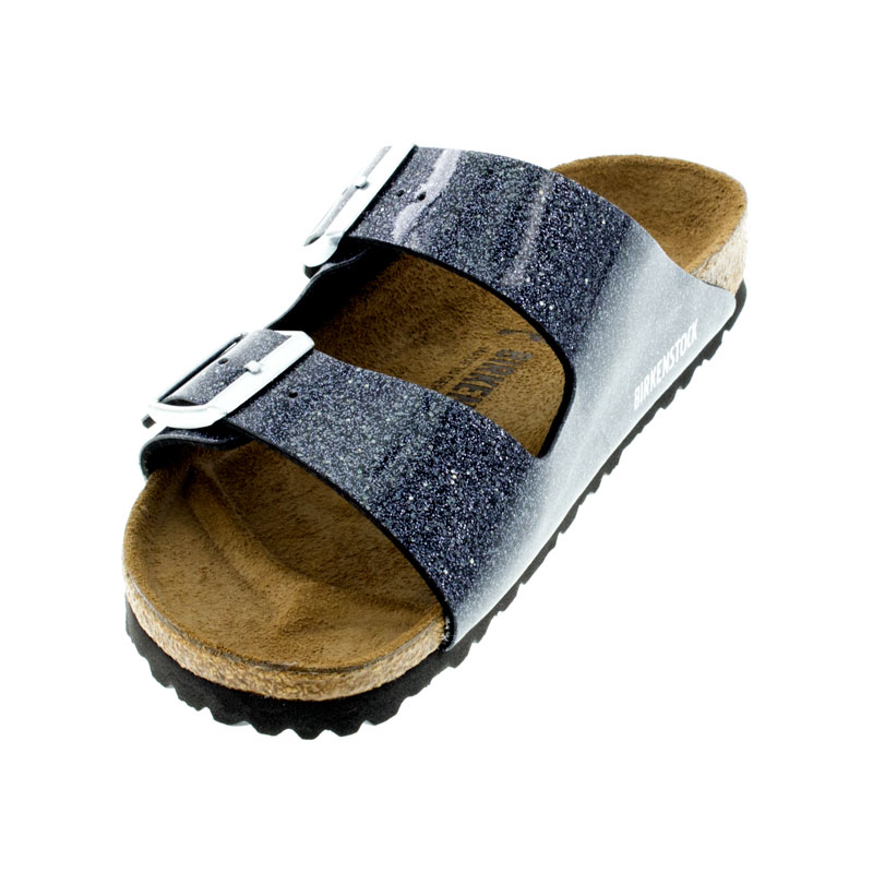 Birkenstock Arizona Cosmic Sparkle Anthracite Birko-Flor Sandals left front view