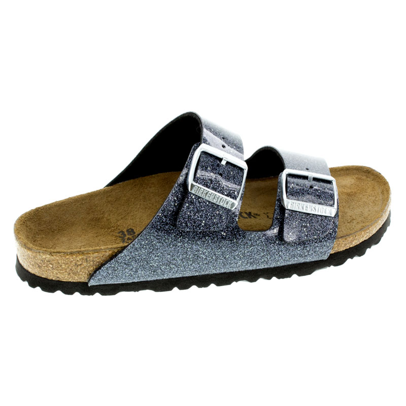 Birkenstock Arizona Cosmic Sparkle Anthracite Birko-Flor Sandals right side view