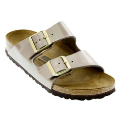 Birkenstock Arizona Electric Metallic Taupe Sandals