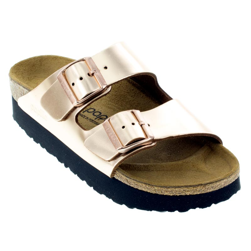 Womens Birkenstock Arizona Metallic Copper Leather