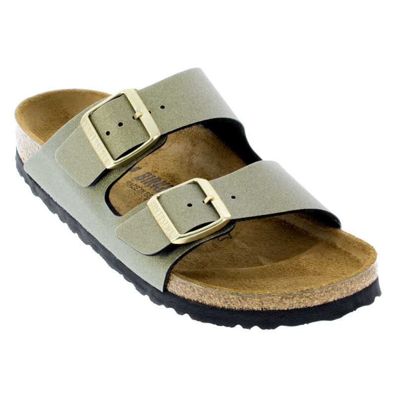 Birkenstock Arizona Icy Metallic Stone Gold Sandals