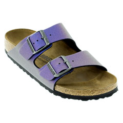 Birkenstock Arizona Icy Metallic Violet Sandals