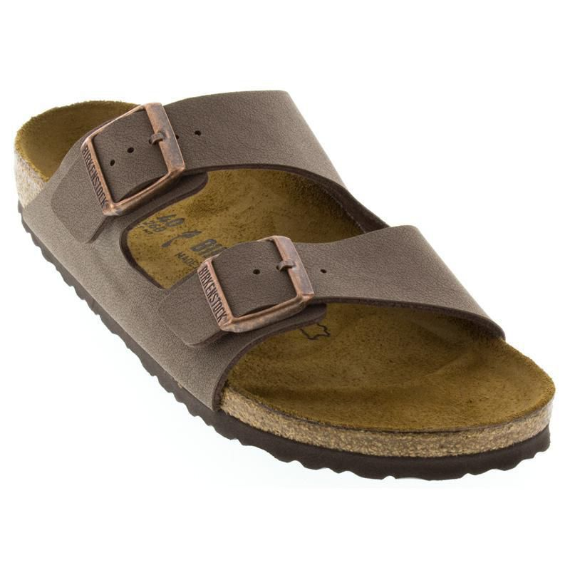 bd454fe0c Womens And Mens Birkenstock Arizona Mocha Birkibuc - Happyfeet.Com
