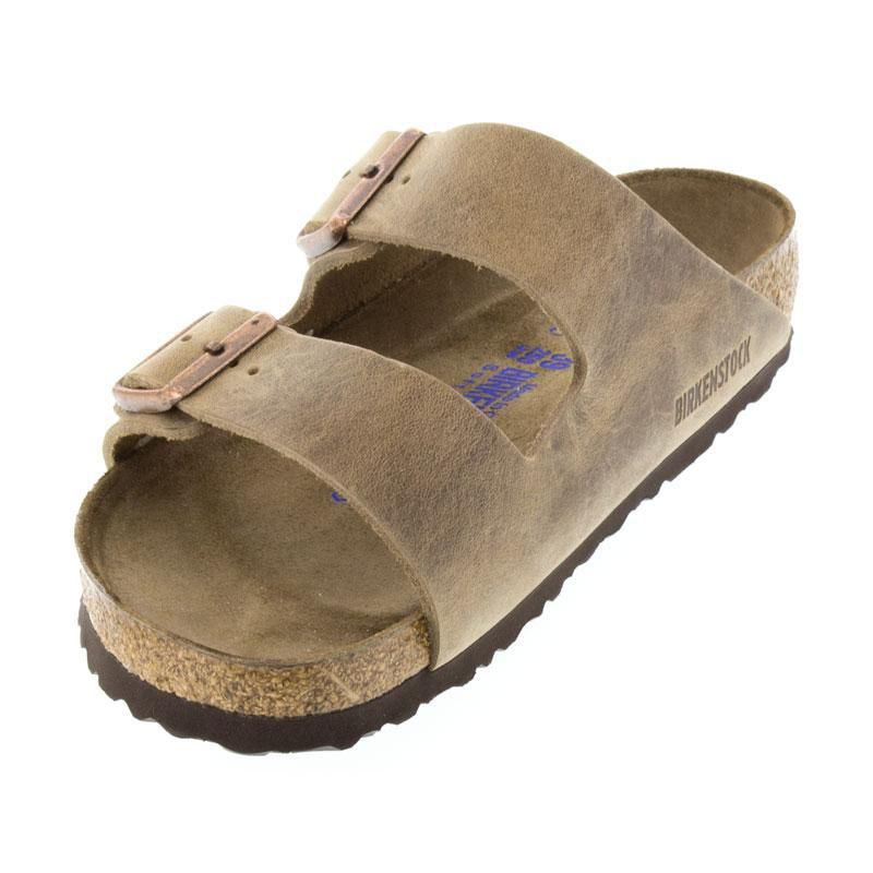 Birkenstock Arizona Tobacco Oiled Leather Soft Footbed
