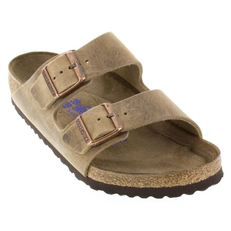 Womens And Mens Birkenstock Arizona Tobacco Oiled Leather Soft ... b20a393704