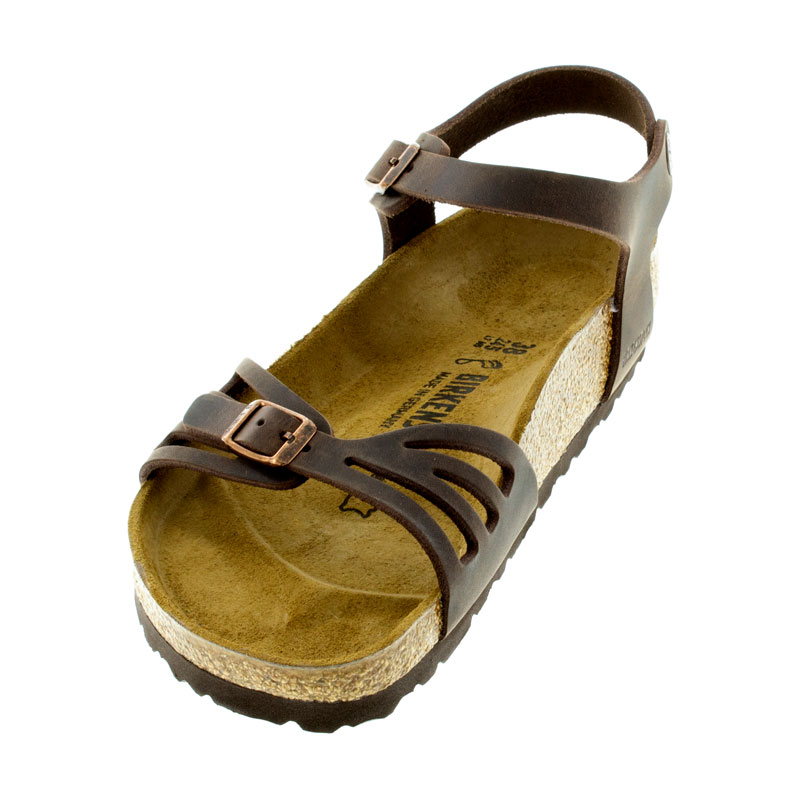 Birkenstock Bali Habana Oiled Leather Sandals left front view