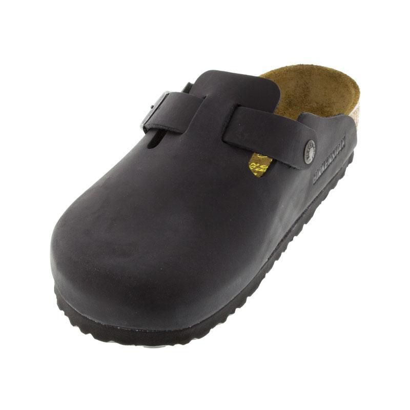 Birkenstock Boston Black Oiled Leather