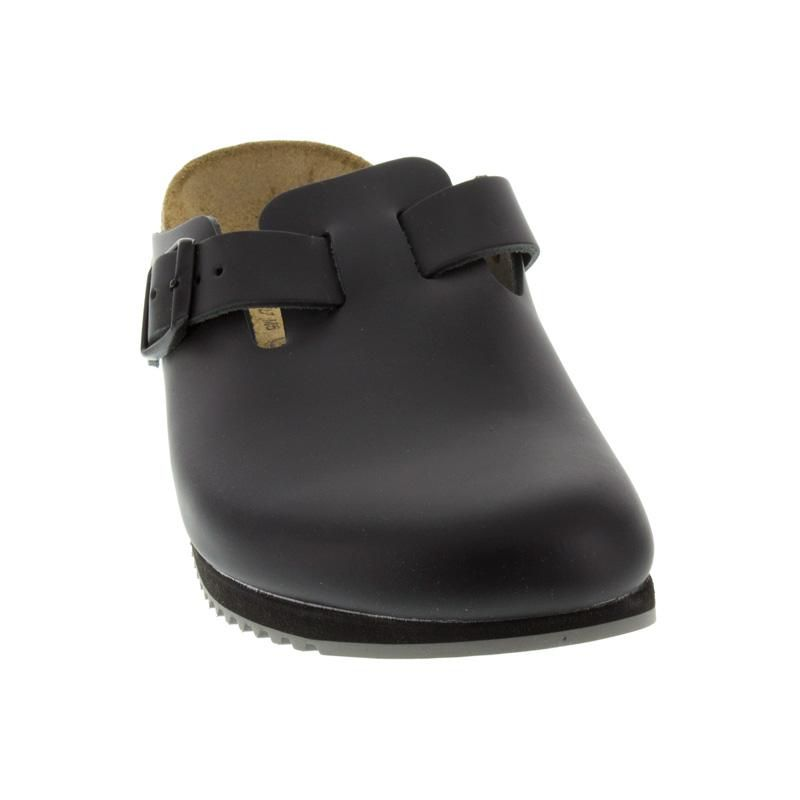 Birkenstock Boston Black Leather Super-Grip