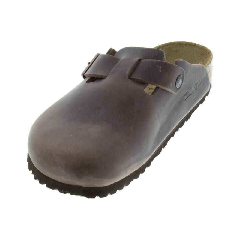 Birkenstock Boston Habana Oiled Leather Soft Footbed