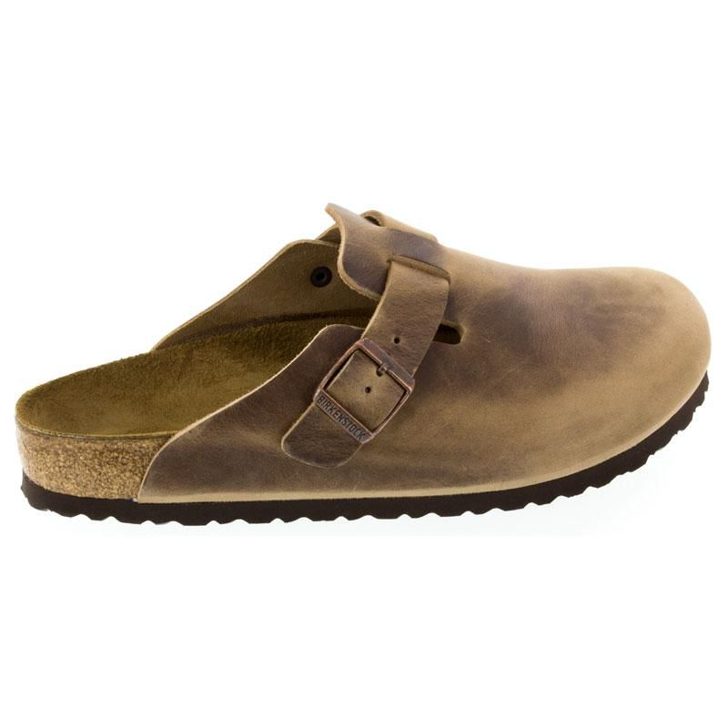 4eb29f03d6 Womens And Mens Birkenstock Boston Tobacco Oiled Leather - Happyfeet.Com