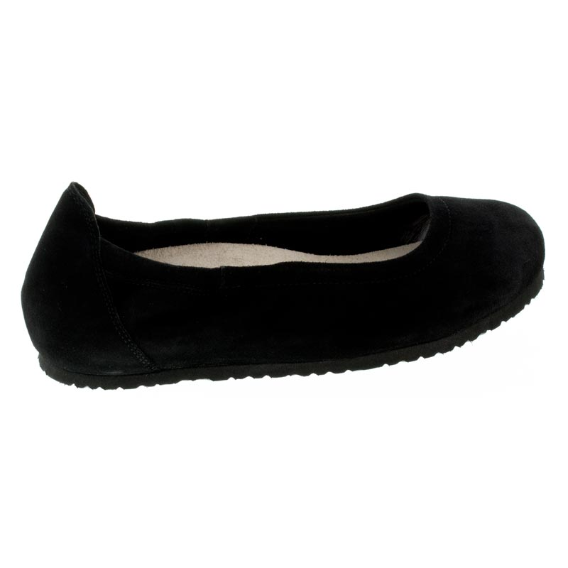 Birkenstock Celina 2 Black Suede Shoes right side view