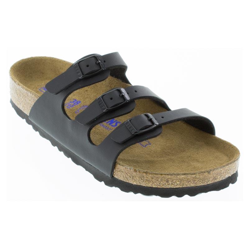 25086b9d5221 Birkenstock Florida Black Sandals. Birkenstock Florida Black Birko-Flor  Soft Footbed ...