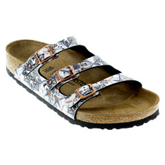 Birkenstock Florida Boho Flowers Navy Sandals