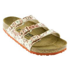 Birkenstock Florida Boho Flowers Earth Red Sandals