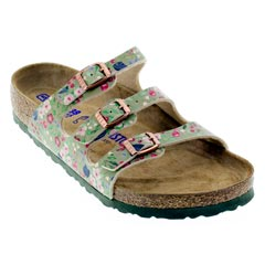 Birkenstock Florida Meadow Flowers Khaki Sandals