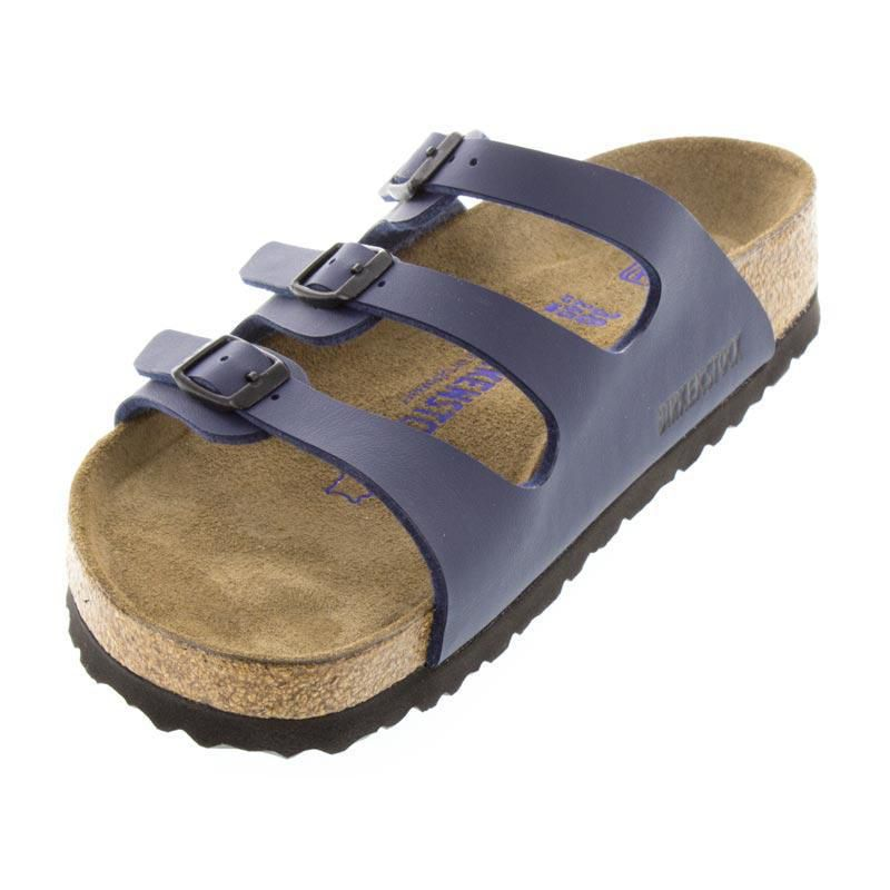 Birkenstock Florida Navy Birko-Flor Soft Footbed