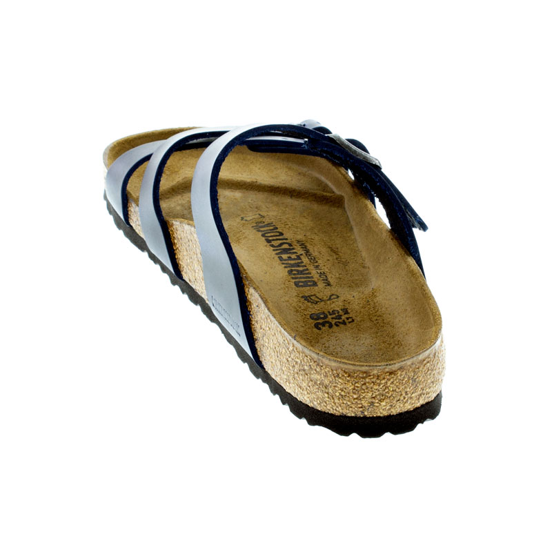Birkenstock Franca Blue Oiled Leather Sandals back view