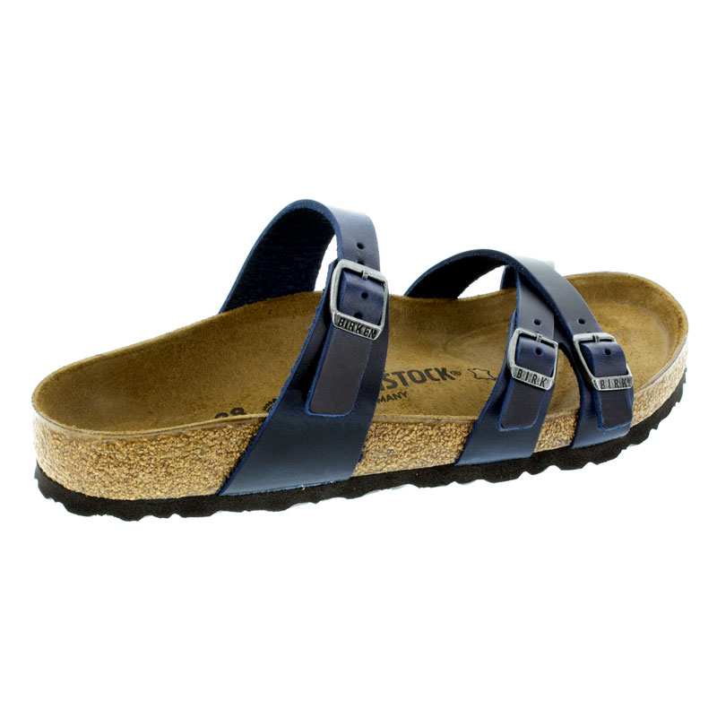 Birkenstock Franca Blue Oiled Leather Sandals right side view